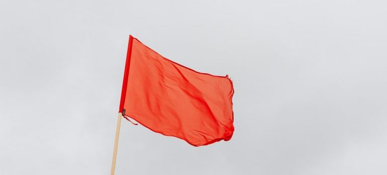 red flag that wont help you maintain security during a long-distance move