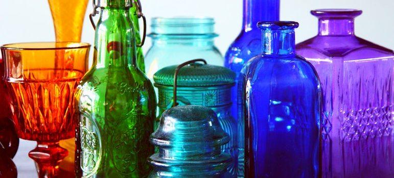 Colorful glassware