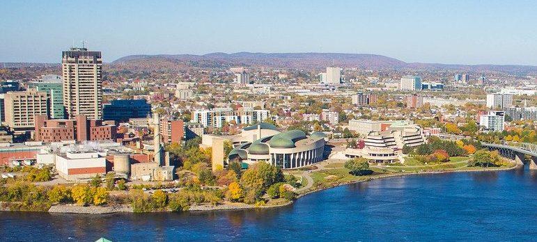 Aerial view of Ottawa
