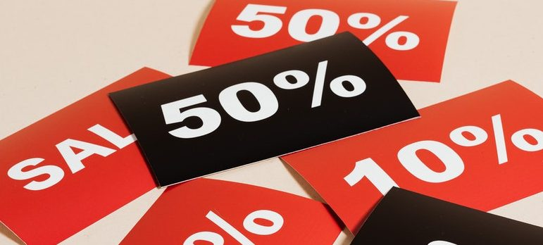 sale signs and prices