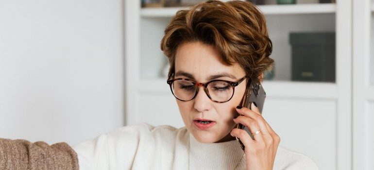 female talking on the phone