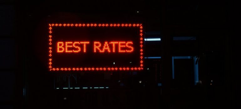 Best rates sign