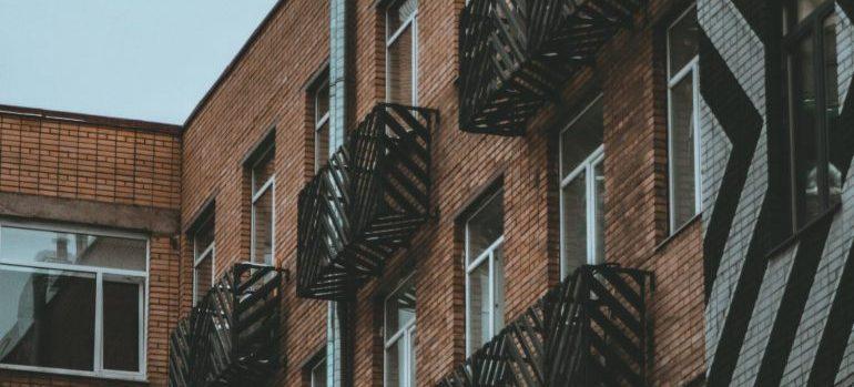 an apartment building closeup