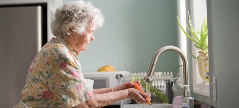 senior lady in the kitchen